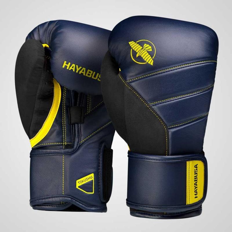 Hayabusa T3 Boxing Gloves Navy Yellow