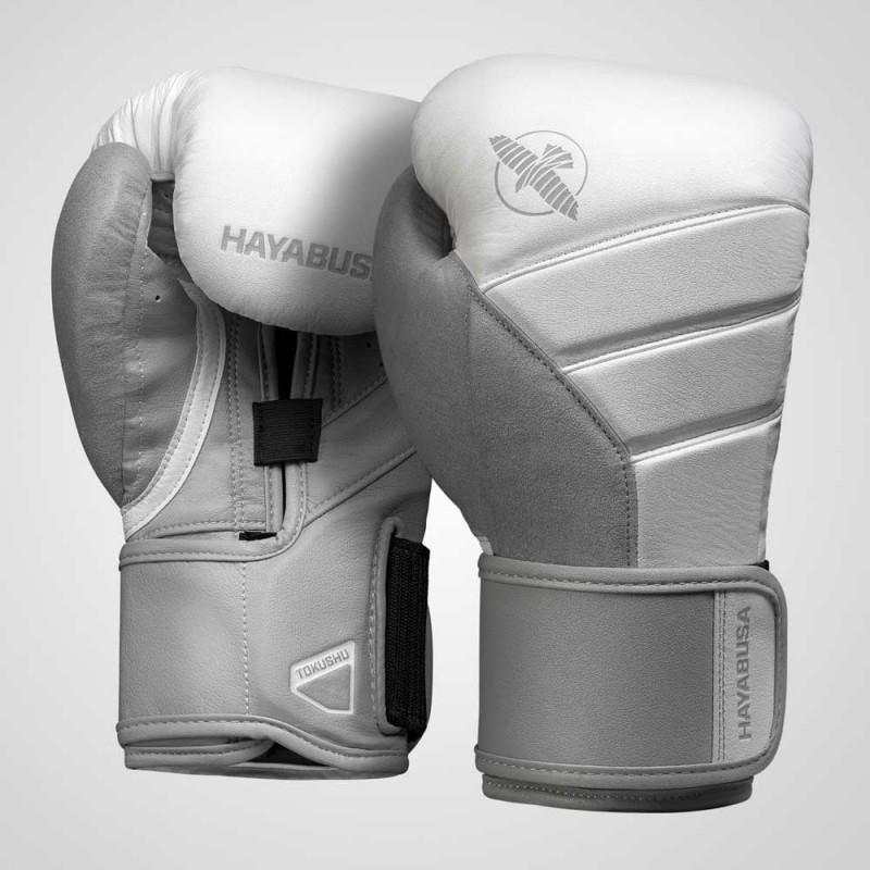 Hayabusa T3 Boxing Gloves White Grey