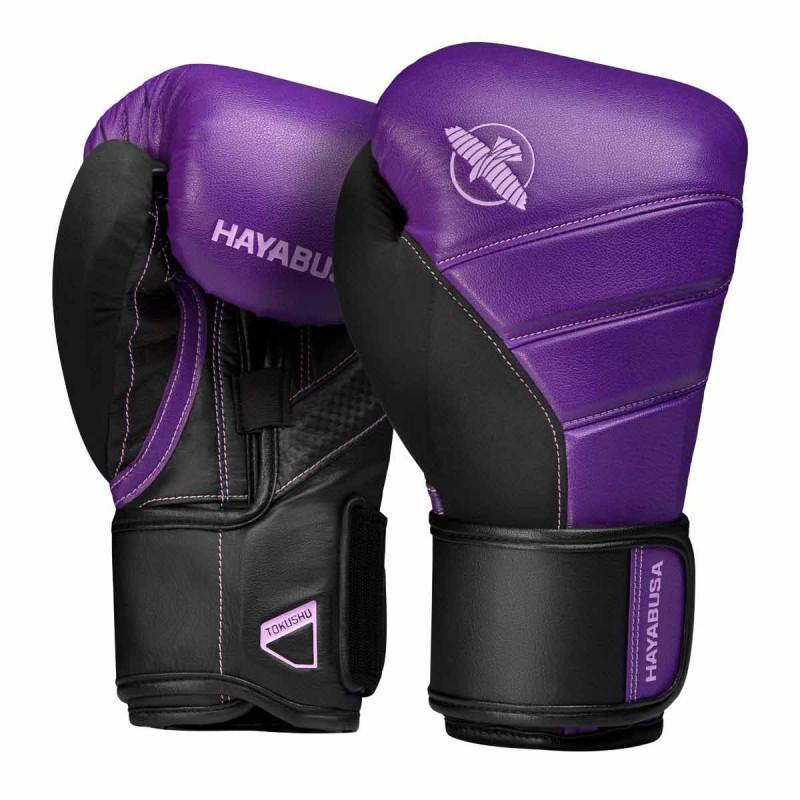 Hayabusa T3 Boxing Gloves Purple Black