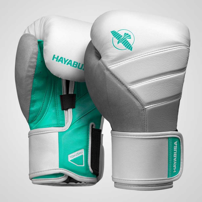 Hayabusa T3 Boxing Gloves White Teal