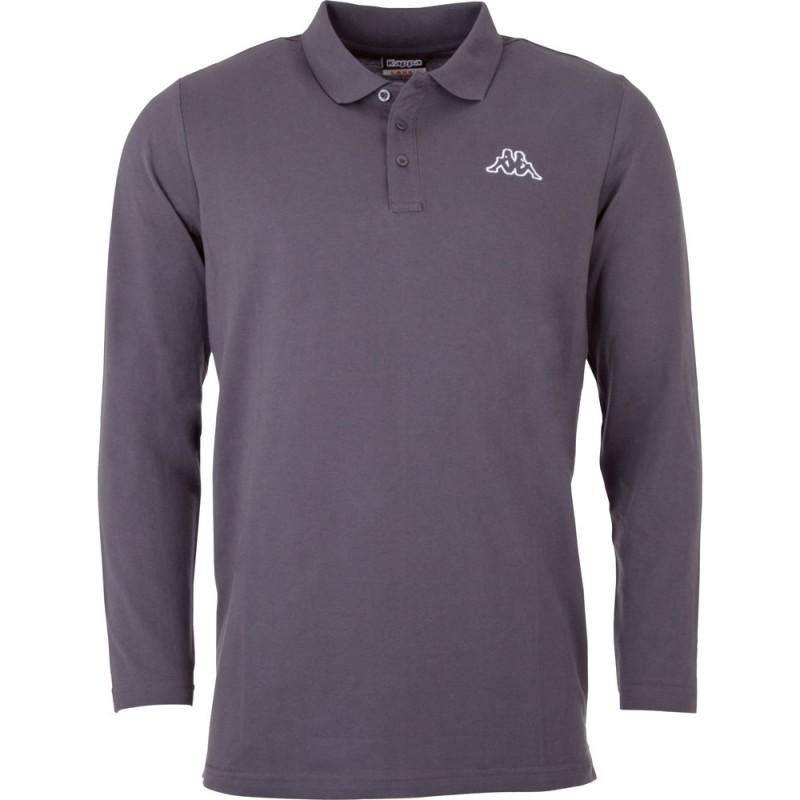 Kappa Talek Polo Shirt LS Asphalt