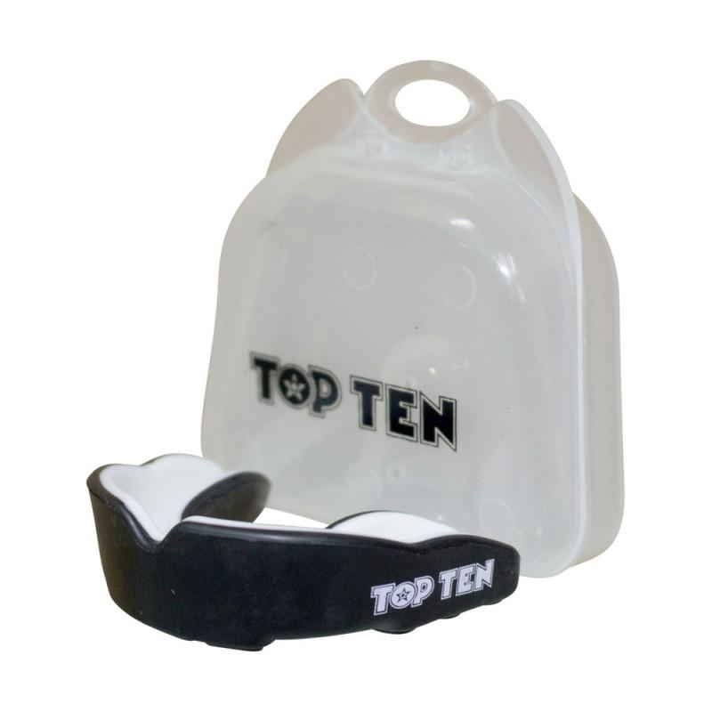 Top Ten Zahnschutz Combat TPR Schwarz Weiss