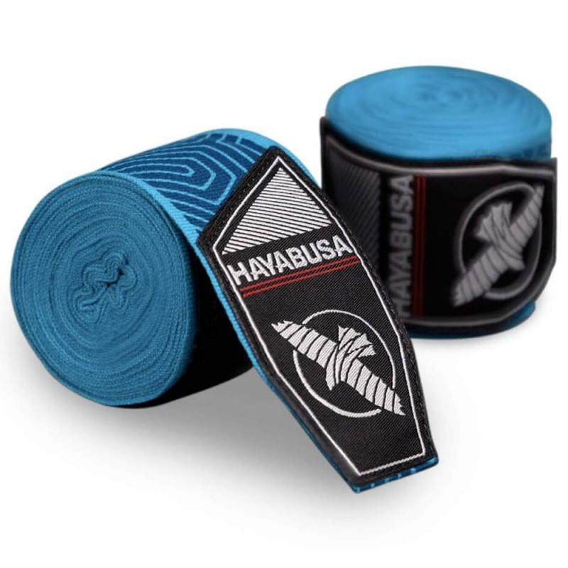 Hayabusa Perfect Stretch Handwraps Blue Geo