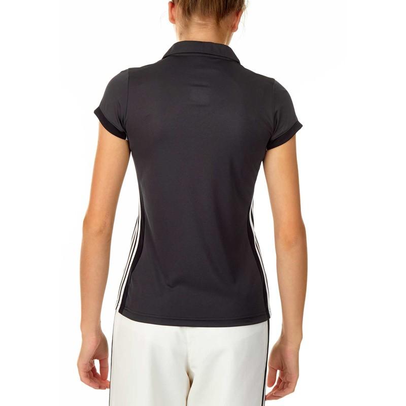 Abverkauf Adidas T16 Climacool Polo Damen Schwarz Grau