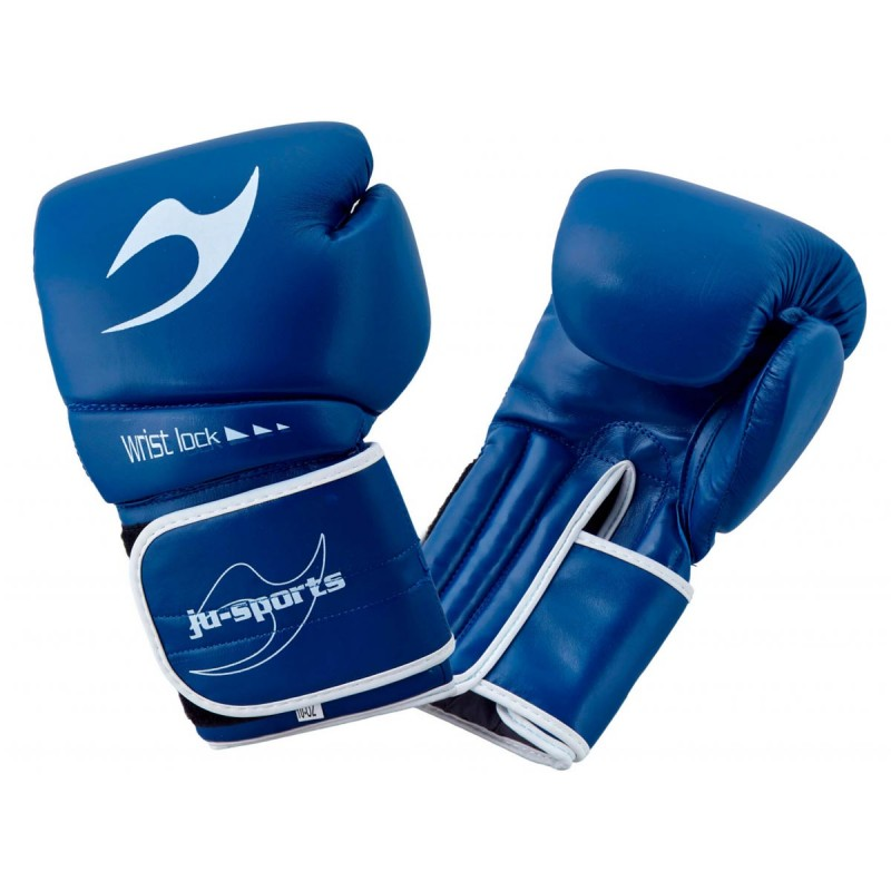 ju- Sports C16 Competitor Pro Boxhandschuhe Leder 10 Oz Blau