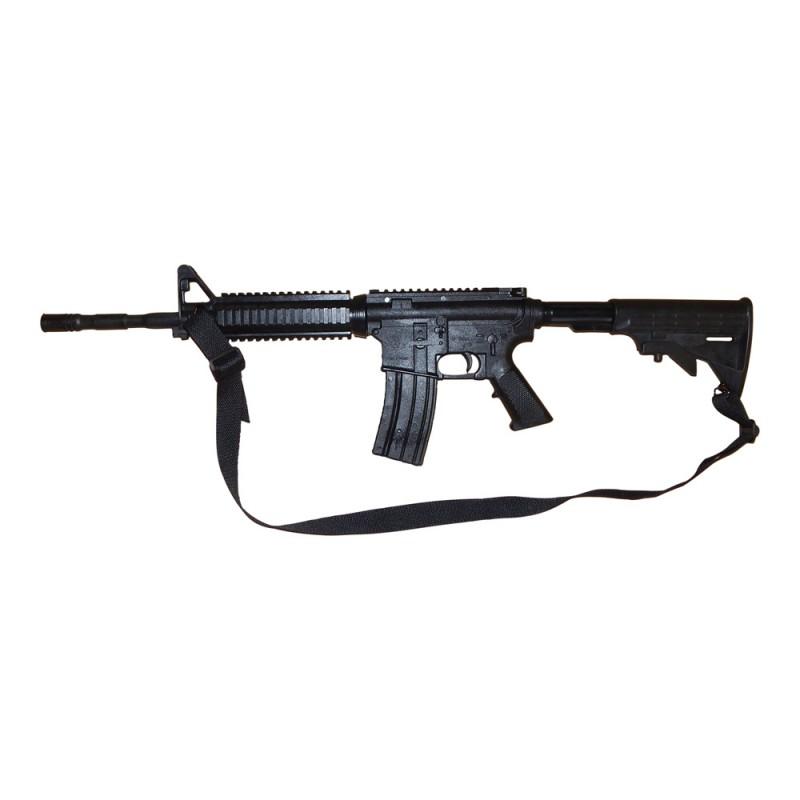 Gewehr Hartgummi M3 Schwarz