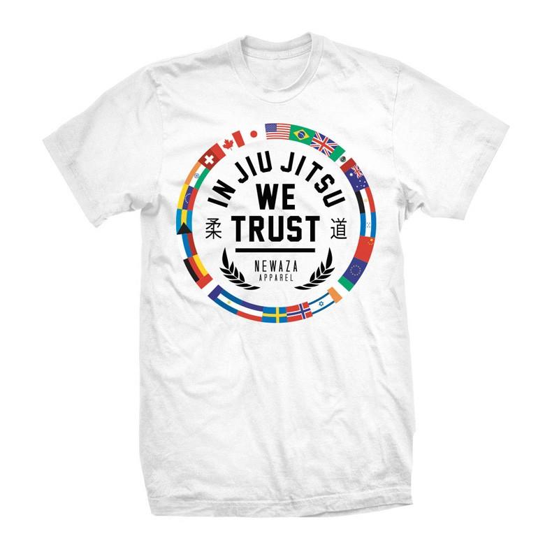 Abverkauf Newaza In Jiu Jitsu The World trusts White T-Shirt