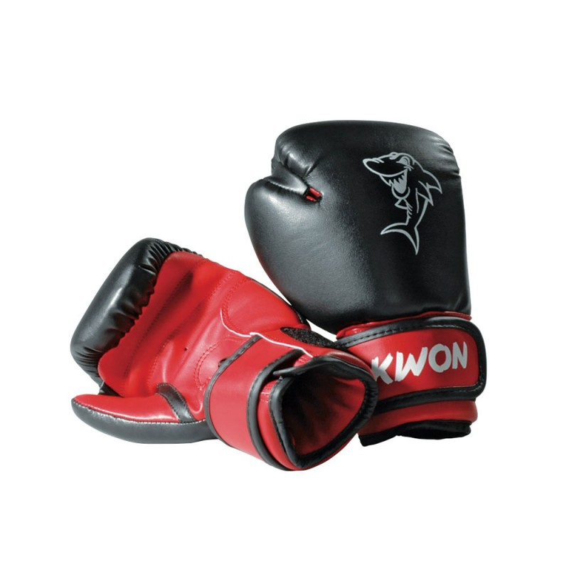 kwon mini shark 4oz boxhandschuhe schwarz rot g nstig. Black Bedroom Furniture Sets. Home Design Ideas