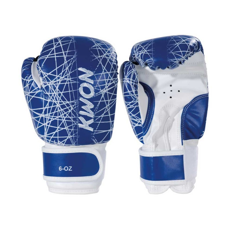 Kwon Kids Neon 6oz Boxhandschuhe blau