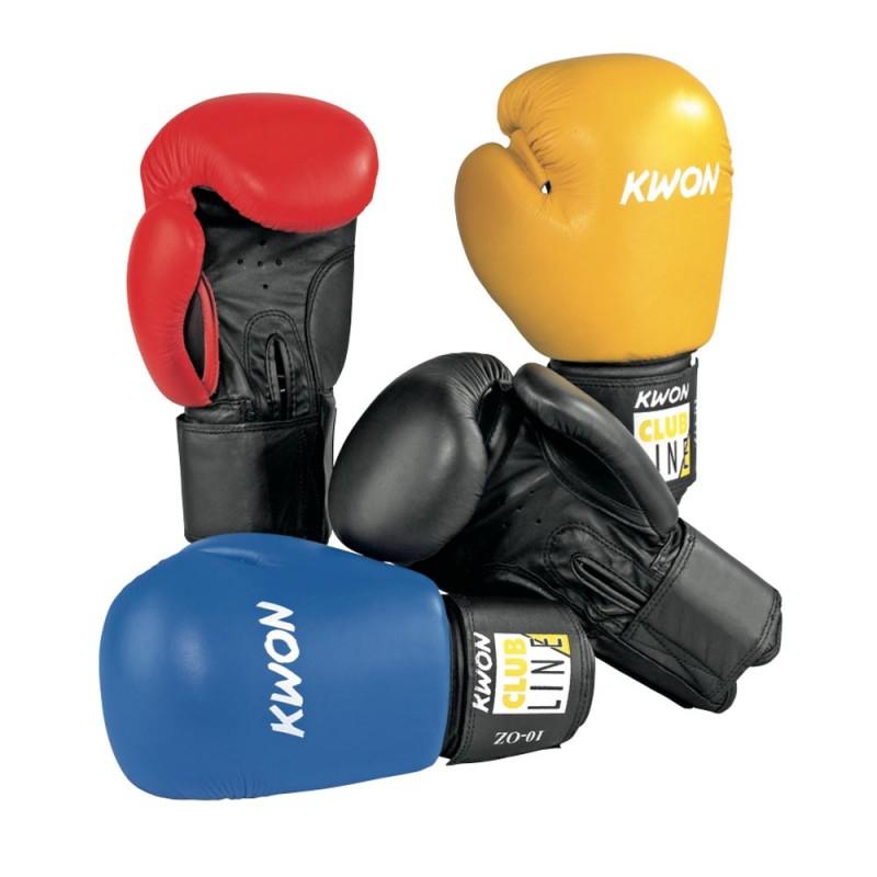 Kwon Clubline Pointer 10oz Boxhandschuhe gelb schwarz