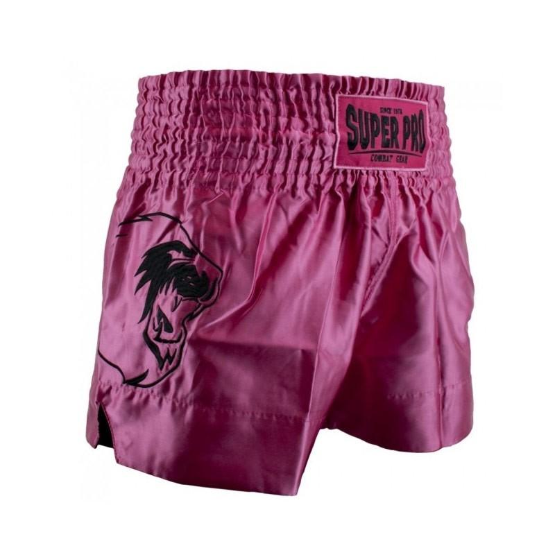 Super Pro Hero Thai Kickboxing Short Pink Weiss
