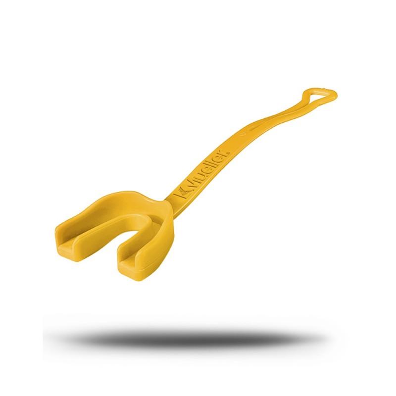Mueller Zahnschutz mit Gurt gelb