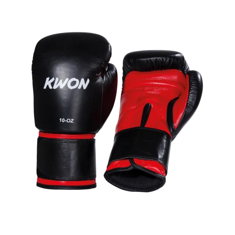 Kwon Knocking Boxhandschuhe schwarz rot