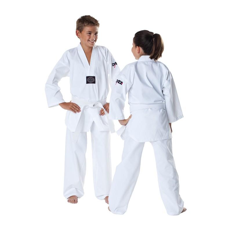 dax taekwondo dobok regular weiss kids g nstig kaufen. Black Bedroom Furniture Sets. Home Design Ideas