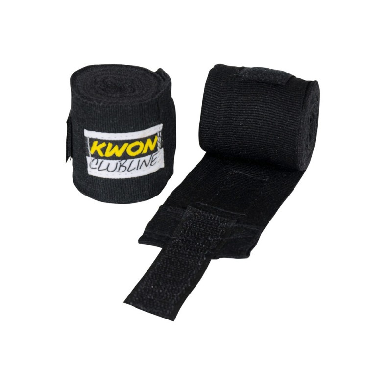 Kwon Clubline Boxbandage elastisch 250cm schwarz