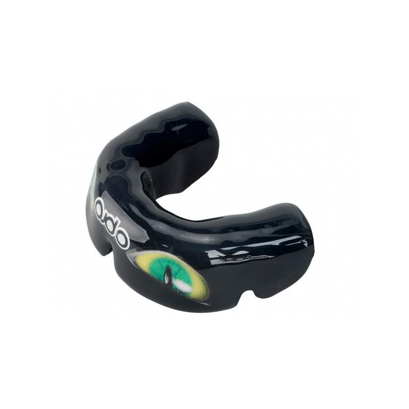 OPRO Zahnschutz PowerFit Aggression Eyes schwarz gold grün