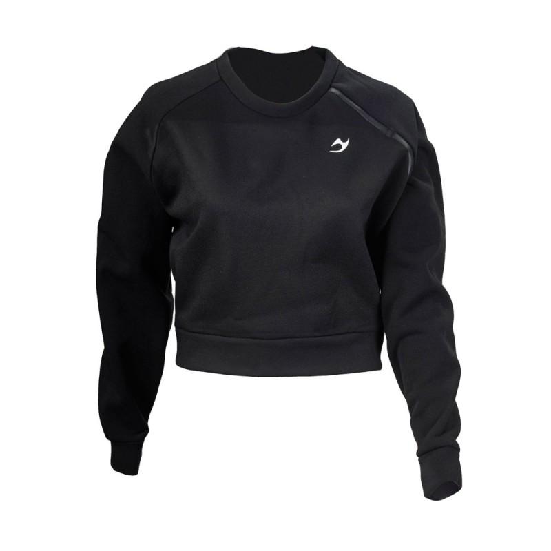 ju-Sports Gym Line Crop Sweatshirt schwarz