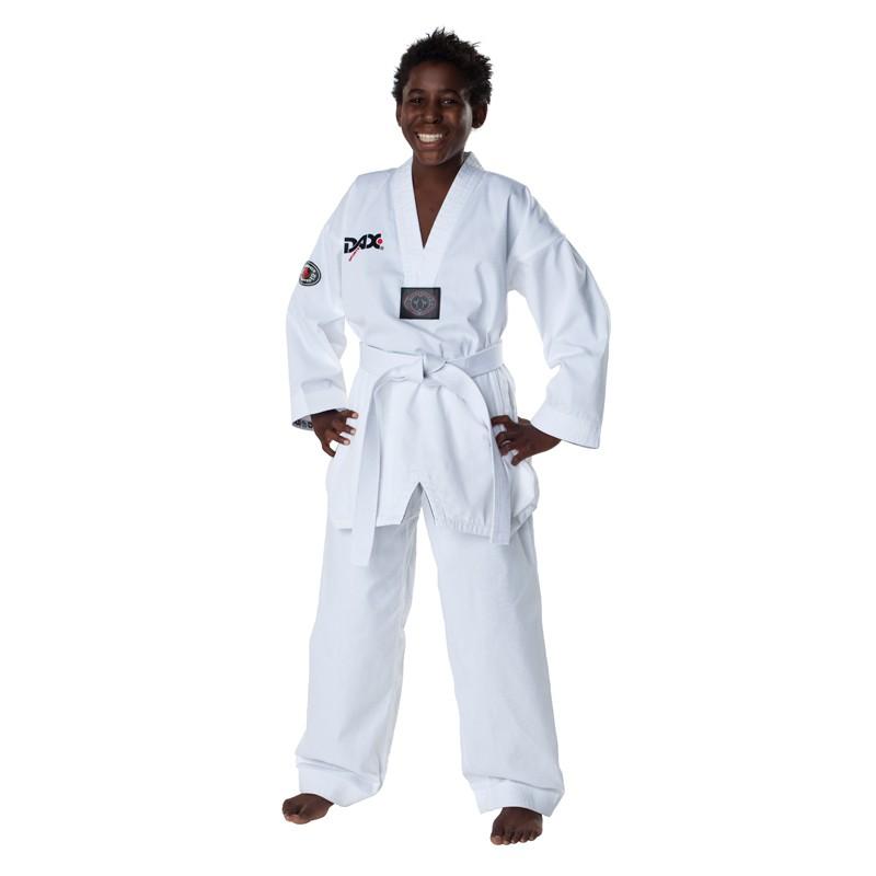 DAX Taekwondo Dobok Vision Revers Weiss