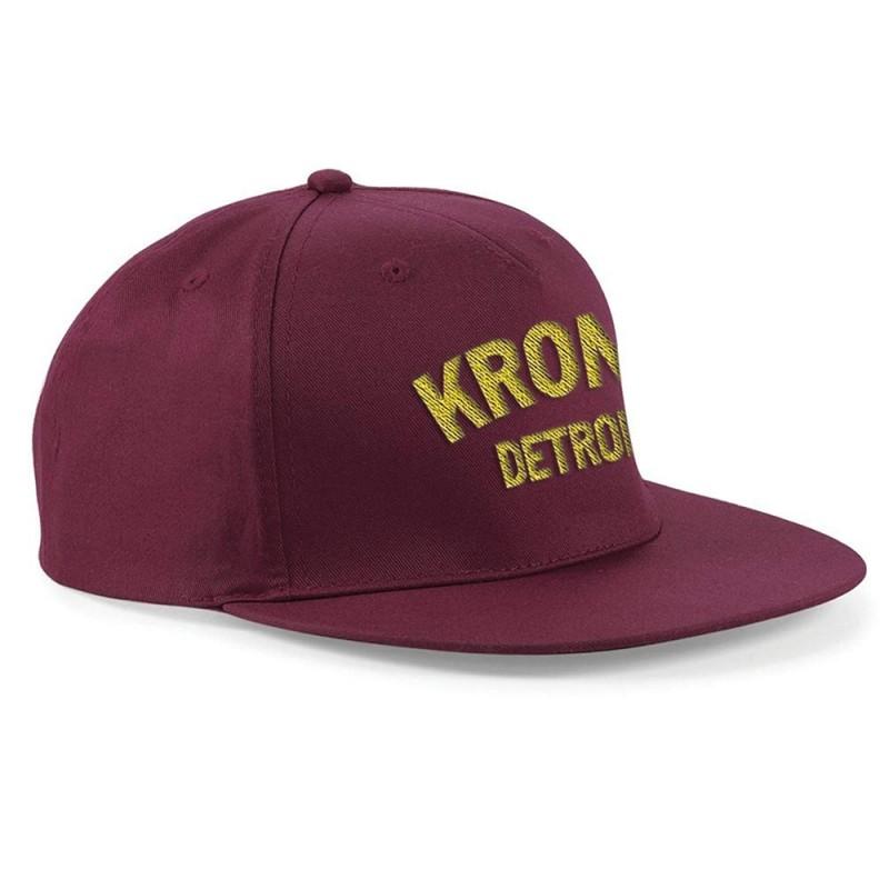 Kronk Detroit Snapback Cap Burgundy