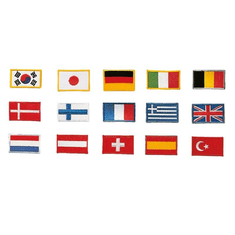 Kwon Stickabzeichen Flagge Italien 5x3