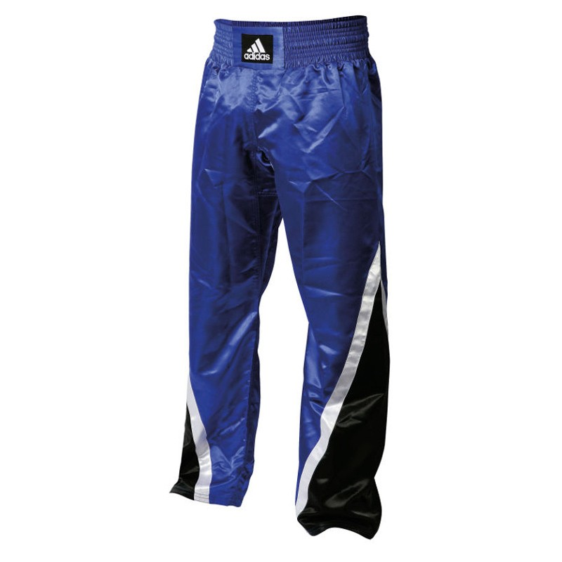 Abverkauf Adidas Kickboxhose Team Blau Schwarz