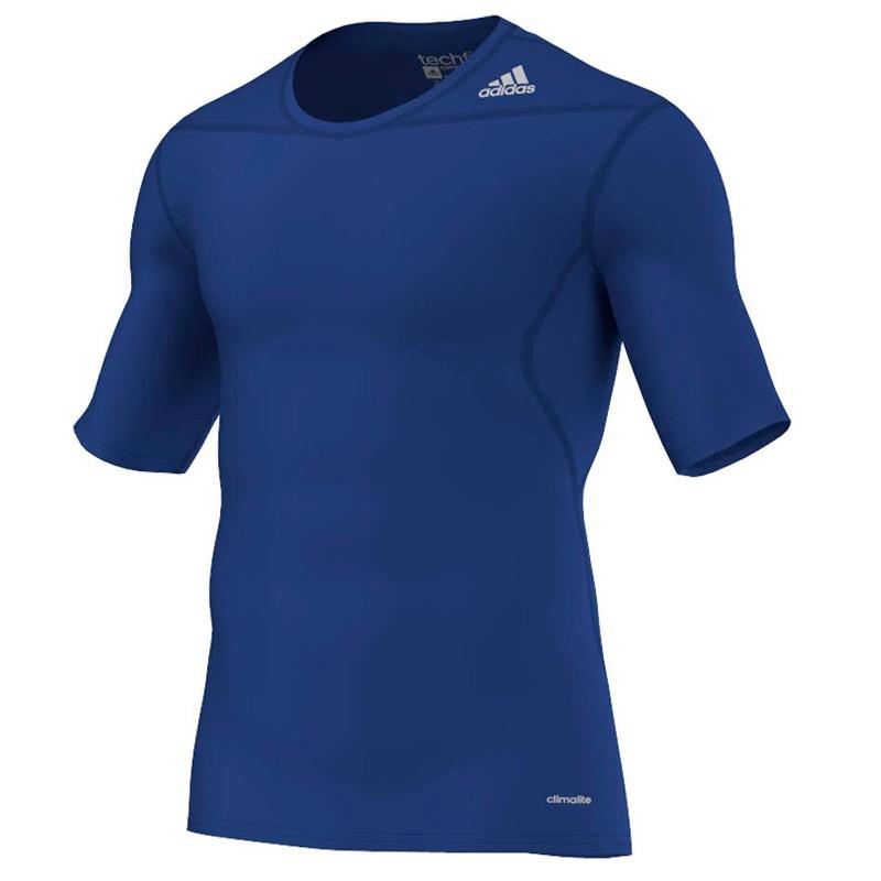 Abverkauf Adidas Techfit Base SS Blue
