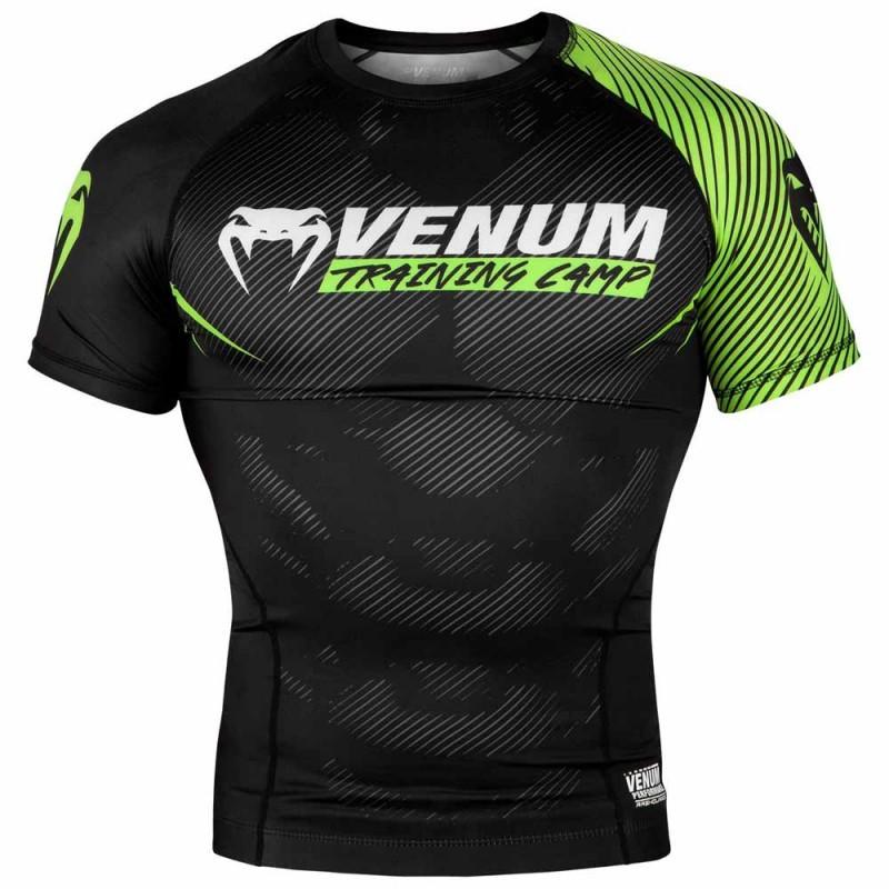 Venum Training Camp 2.0 Rashguard Short Sleeves Black Neo Yellow
