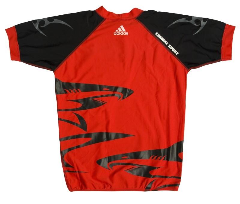 Abverkauf Adidas Shark Rashguard red black