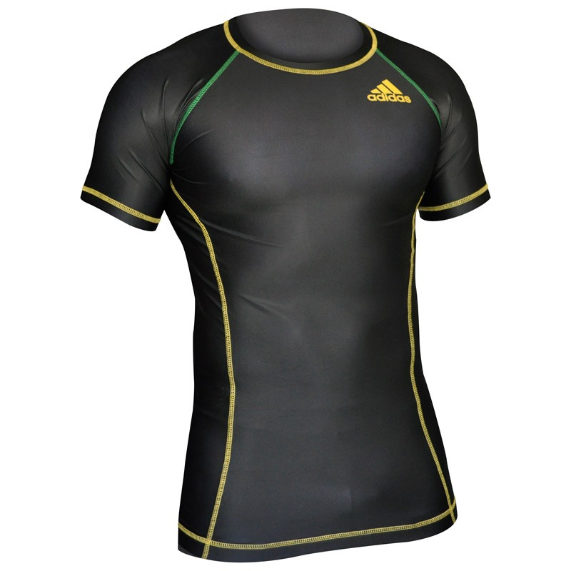 Abverkauf Adidas Rashguard Octagon Energy Black Green Yellow