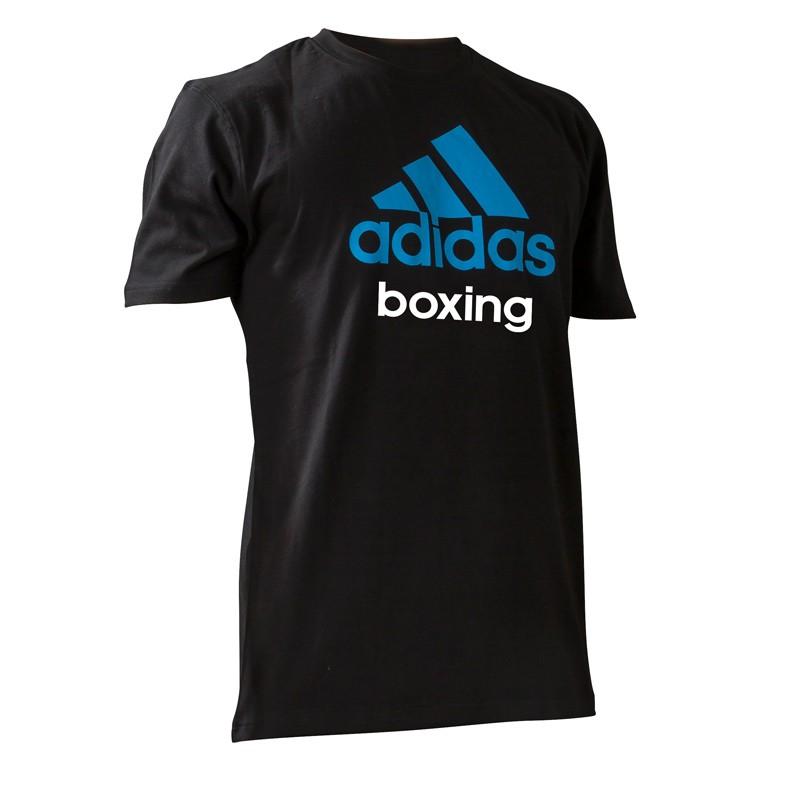 Adidas Community Boxing Shirt Black Solar Blue