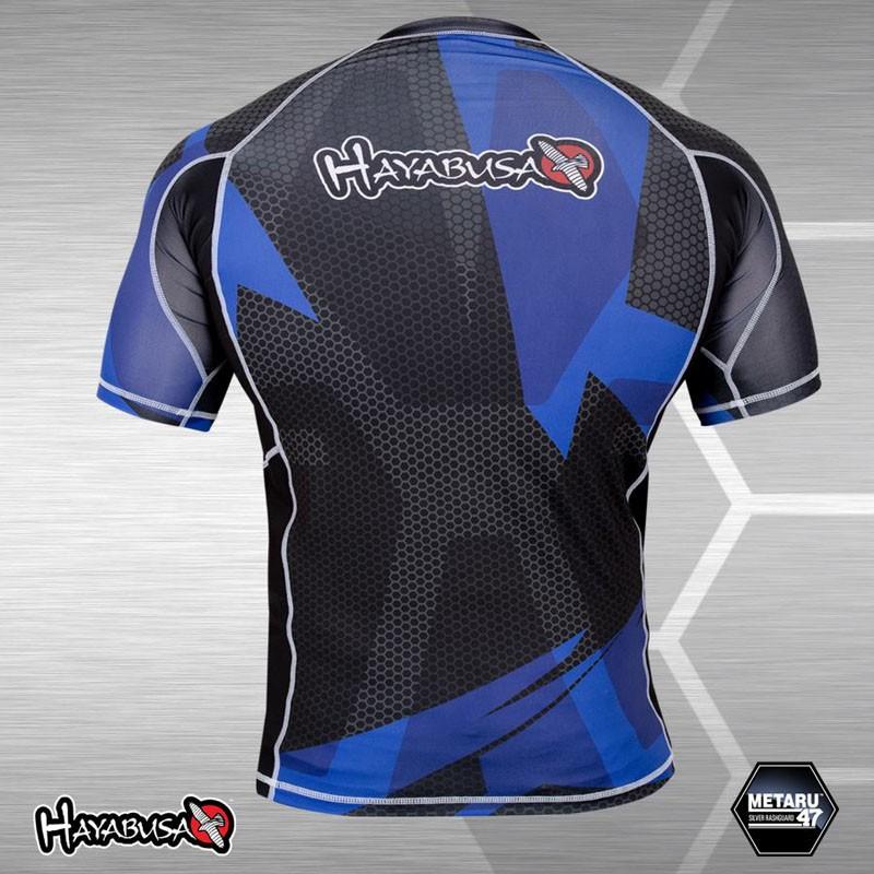 Abverkauf Hayabusa Metaru 47 Rashguard Black-Blue Shortsleeve L