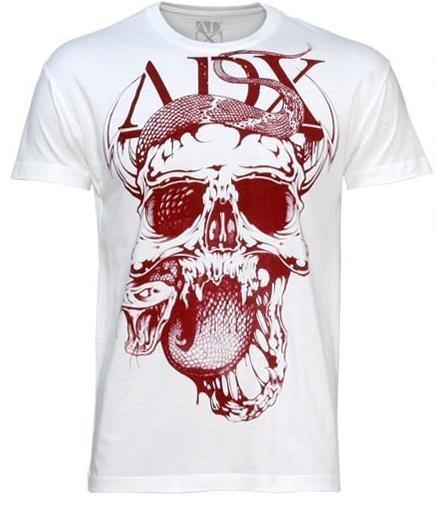 Abverkauf ADX Rattled Destroyed Off White T-Shirt Gr.XXL
