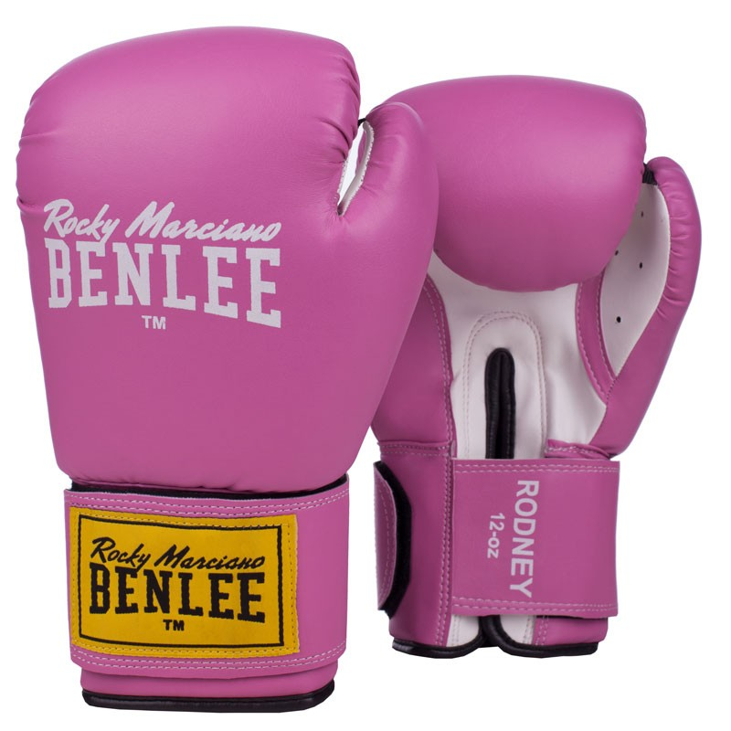 Benlee Artif. Leather Boxing Gloves Rodney Pink White