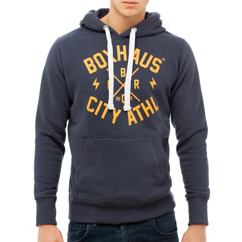 Abverkauf BOXHAUS Brand Sweat Hoodie Core slate grey