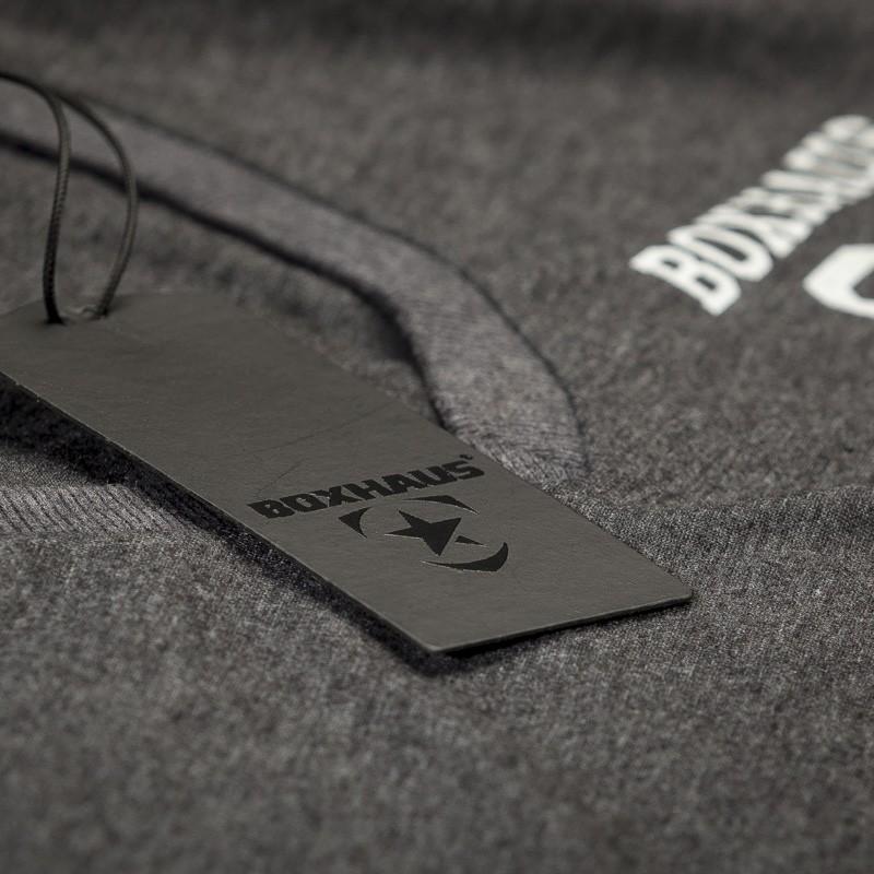 Abverkauf  BOXHAUS Brand Argo V-Neck T-Shirt black htr