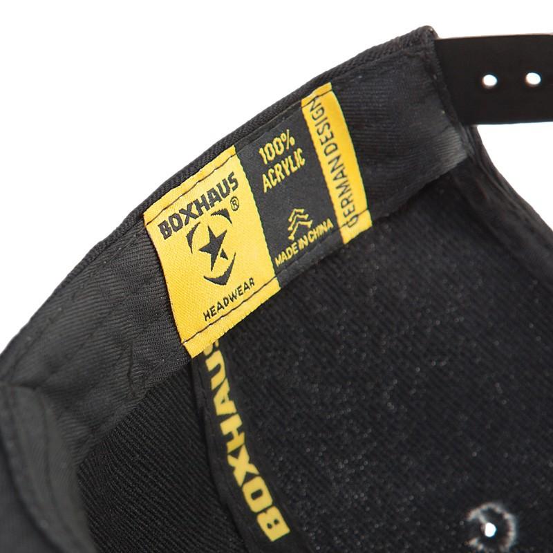 Abverkauf BOXHAUS Brand Incept Snapback Cap black