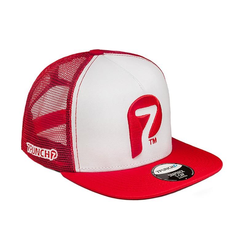 Abverkauf 7Punch Snapback Trucker Cap red