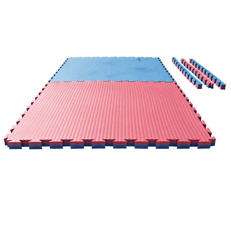 puzzle wendematte tatami 4 cm rot blau g nstig kaufen boxhaus. Black Bedroom Furniture Sets. Home Design Ideas