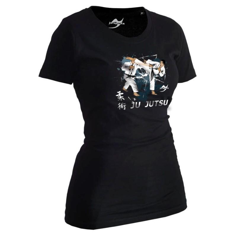 Ju- Sports Ju Jutsu Shirt Artist Schwarz Lady