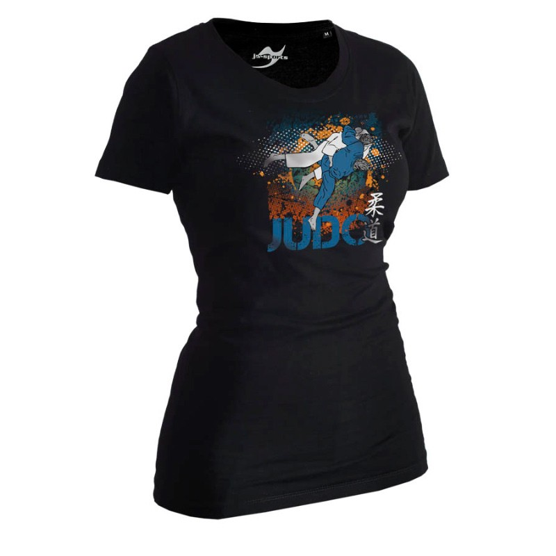 Ju- Sports Judo Shirt All Japan Schwarz Lady
