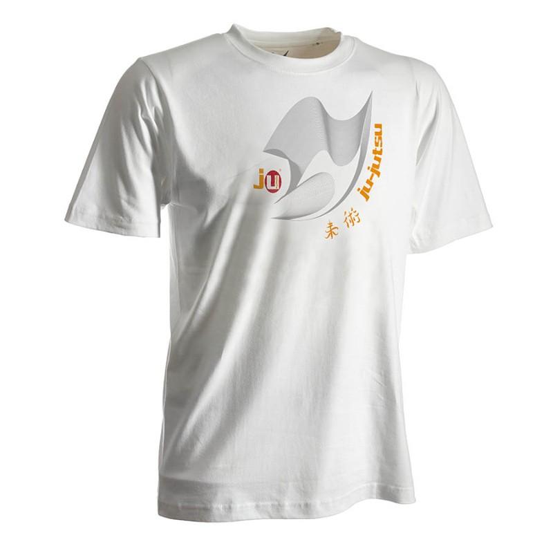 Ju- Sports Ju Jutsu Shirt Moire Weiss