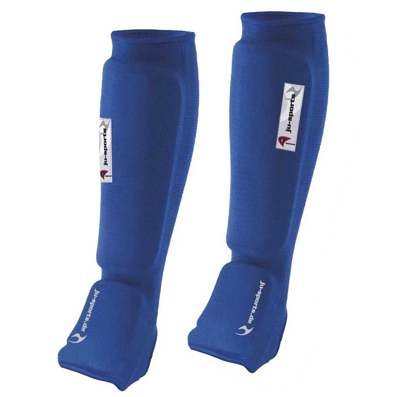 Ju- Sports Schienbein Spannschoner Blau