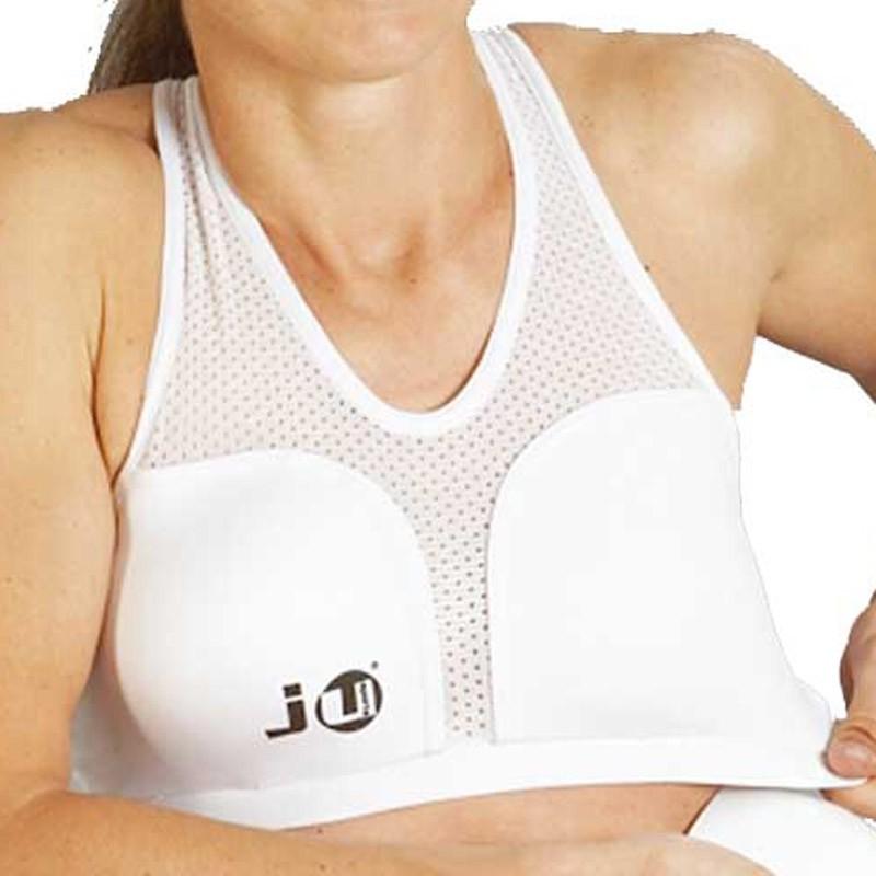 Ju- Sports Lycra Brustschutz Top Für Damen Weiss
