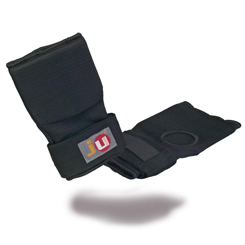 Ju- Sports Innenboxhandschuhe mit Bandage Schwarz Senior