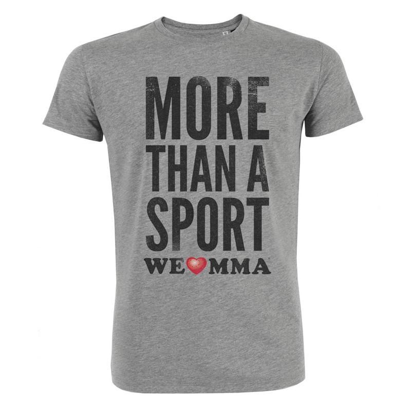 ABVERKAUF WE LOVE MMA More than a sport Shirt grau