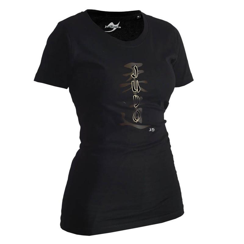 Ju- Sports Judo Shirt Classic Schwarz Lady