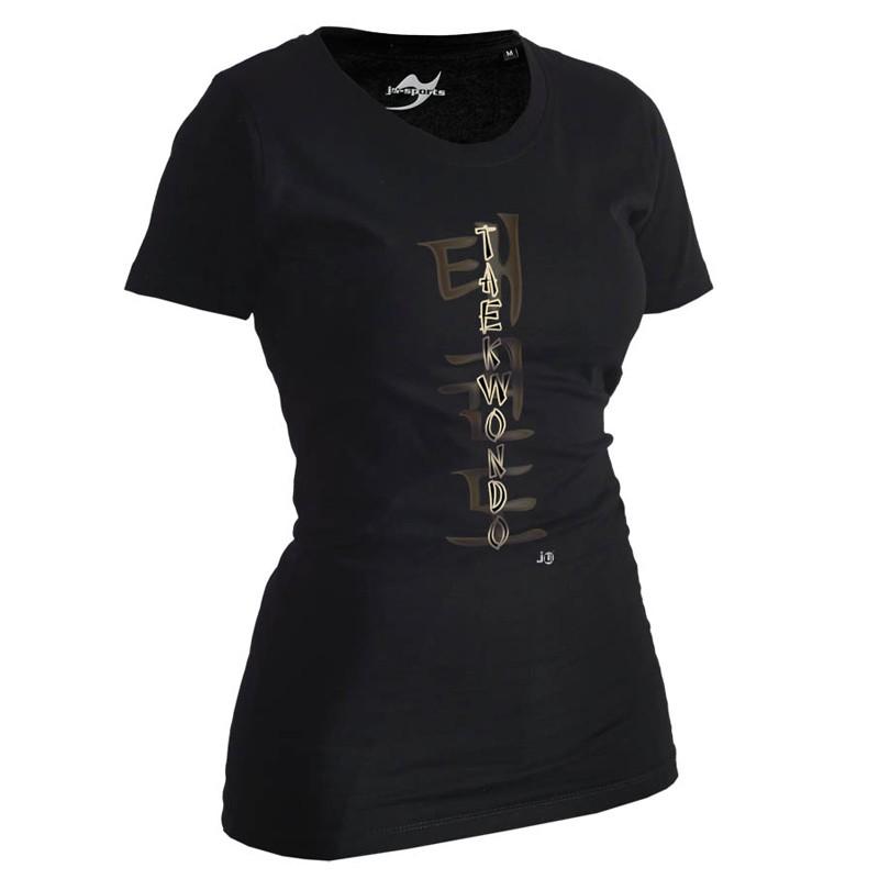 Ju- Sports Taekwondo Shirt Classic Schwarz Lady