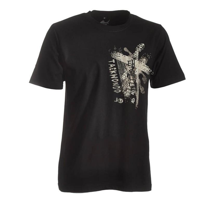 Ju- Sports Taekwondo Shirt Trace Schwarz