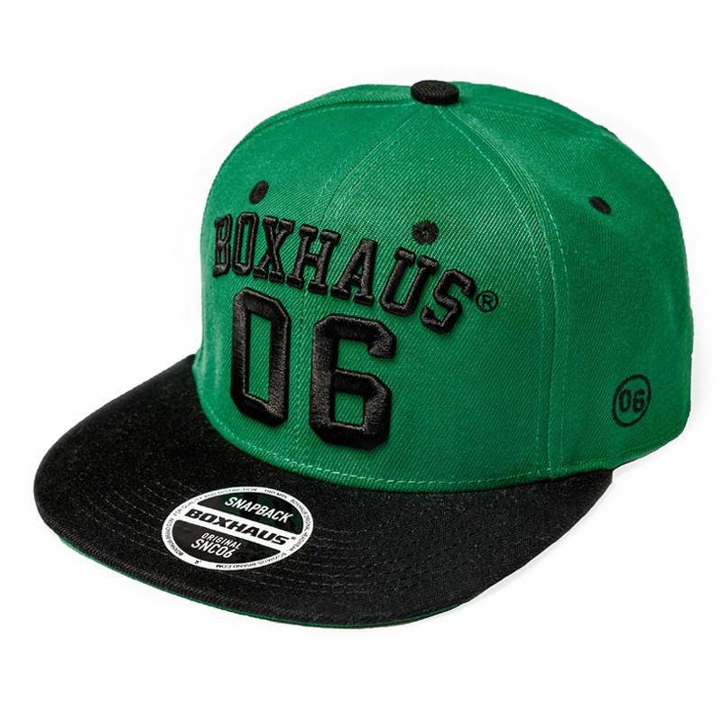 Abverkauf BOXHAUS Brand Snapback Cap COMA black green
