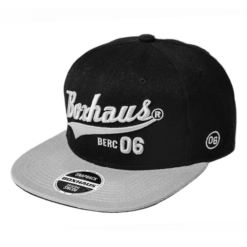 Abverkauf BOXHAUS Brand Sairon06 Snapback Cap black grey